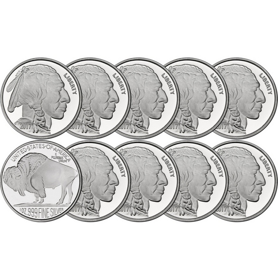 2017 Buffalo Replica 1oz .999 Silver Medallion 10pc