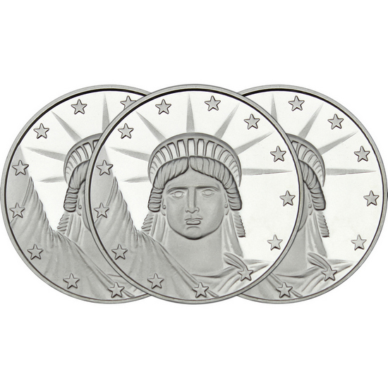 Lady Liberty 1oz .999 Silver Medallion 3pc