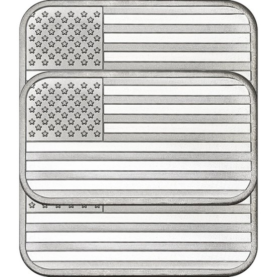 American Flag 1oz .999 Silver Bar 3pc