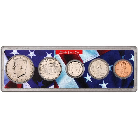 2016 Birth Year Set Patriotic Flag Insert