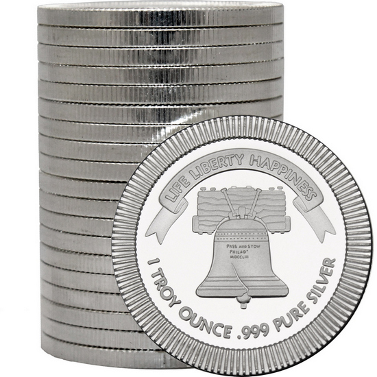 Liberty Bell Stackables 1oz .999 Silver Medallion 20pc