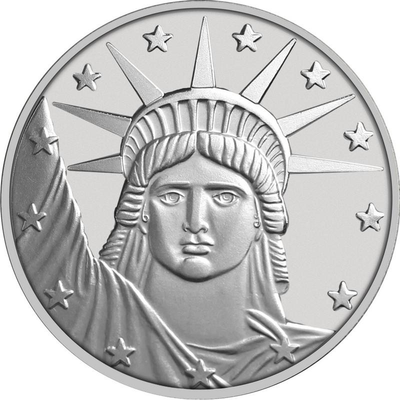 Lady Liberty 999 Silver Medallion New From The