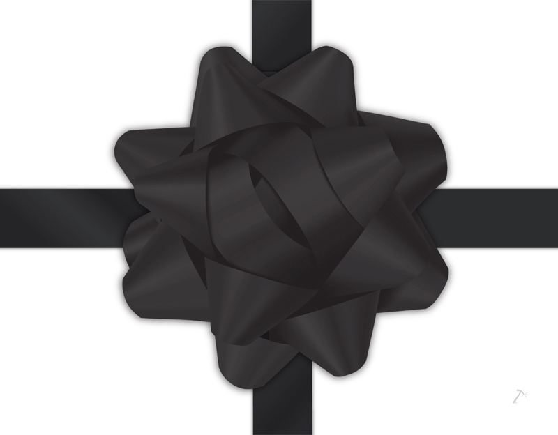 Black Ribbon Gift Box Sleeve for 2 Piece Sets