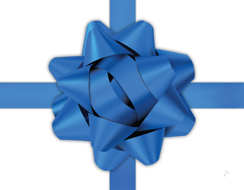 Blue Ribbon Gift Box Sleeve for 2 Piece Sets