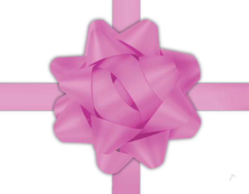 Light Pink Ribbon Gift Box Sleeve for 2 Piece Sets
