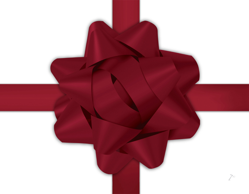 Maroon Ribbon Gift Box Sleeve for 2 Piece Sets