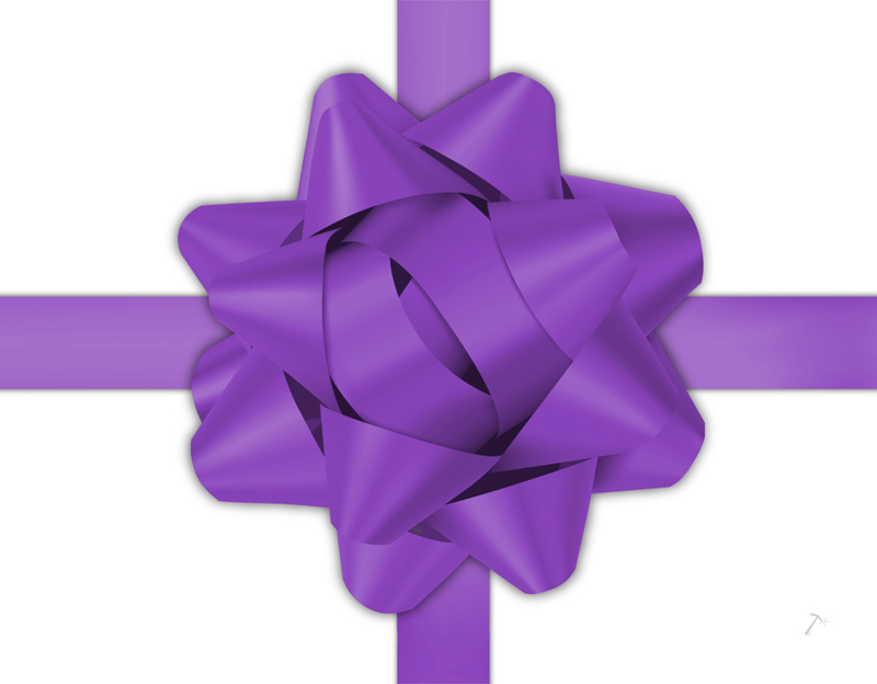 Purple Ribbon Gift Box Sleeve for 2 Piece Sets