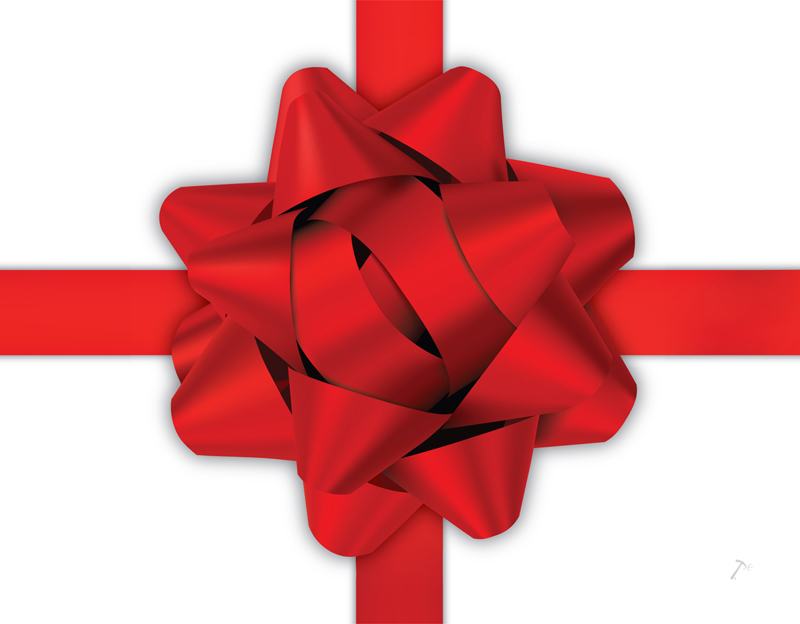 Red Ribbon Gift Box Sleeve for 2 Piece Sets