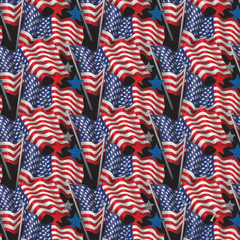 American Flag Pattern Gift Box Sleeve