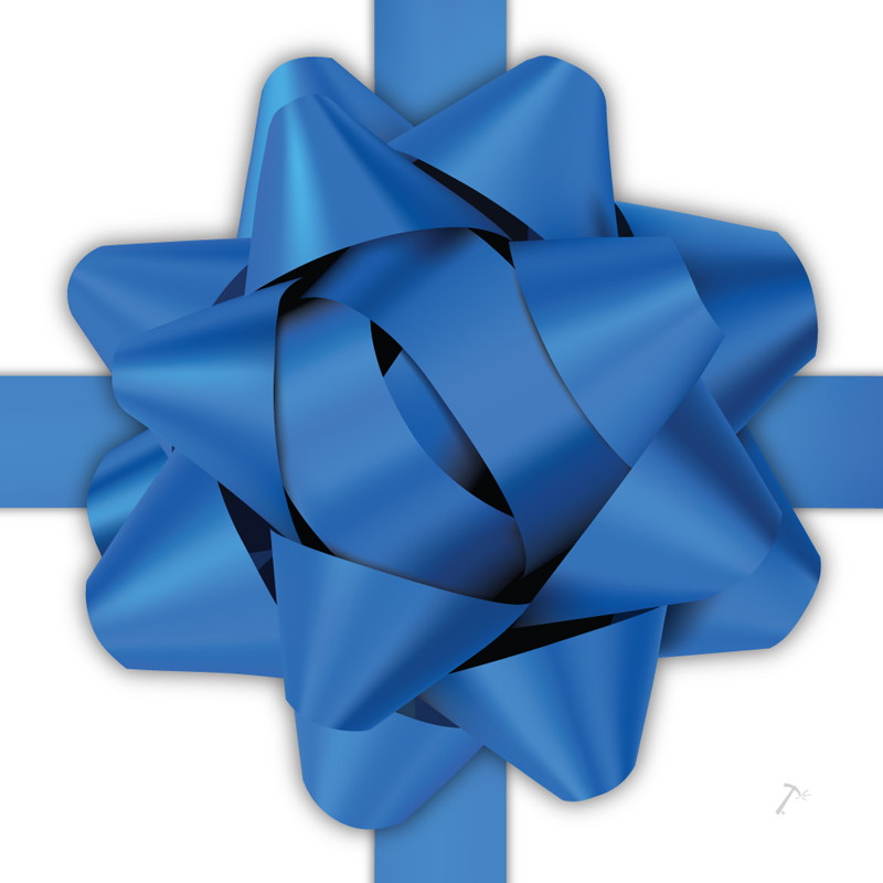 Blue Ribbon Gift Box Sleeve