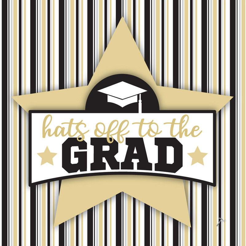 Hats Off to the Grad Graduation Gift Box Sleeve