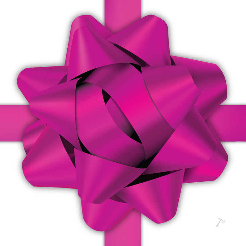 Hot Pink Ribbon Gift Box Sleeve