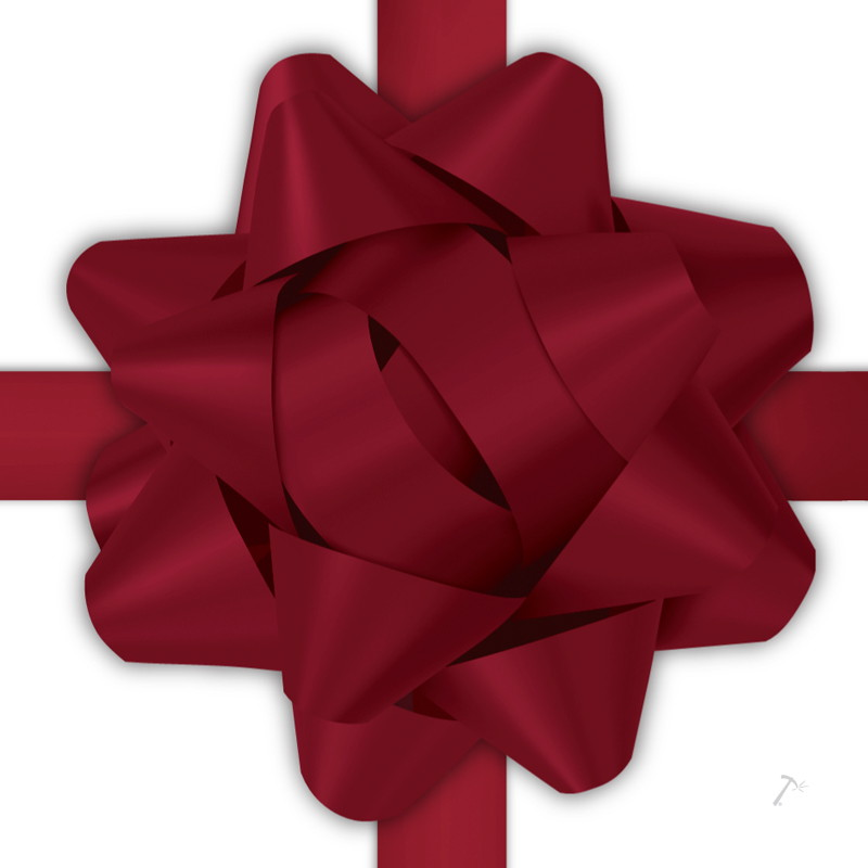 Maroon Ribbon Gift Box Sleeve