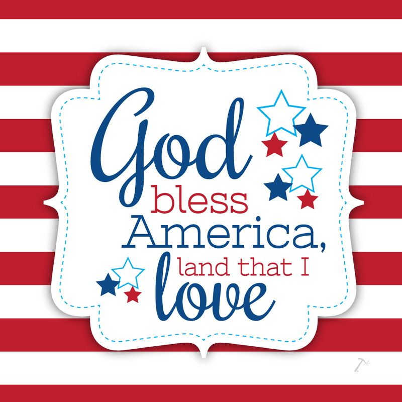 Patriotic God Bless America Gift Box Sleeve