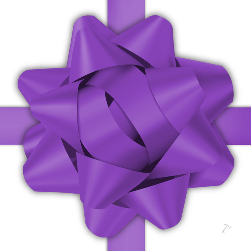 Purple Ribbon Gift Box Sleeve