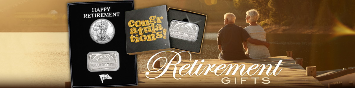 Retirement .999 Fine Silver Bullion Gifts