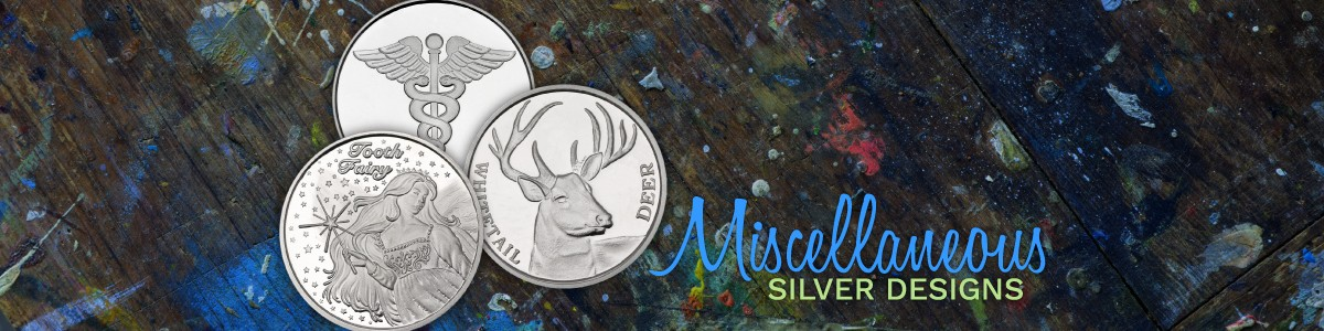 SilverTowne Minted Miscellaneous Silver Bullion Designs Bars and Rounds 999 Silver