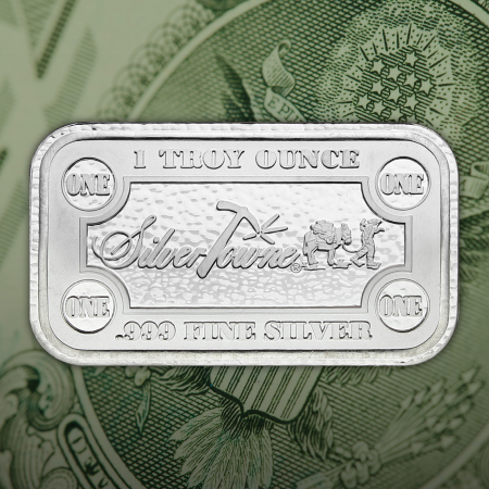 1 Ounce SilverTowne Money Bars Silver Bars