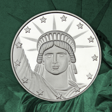 Lady Liberty 1 Ounce Silver Rounds