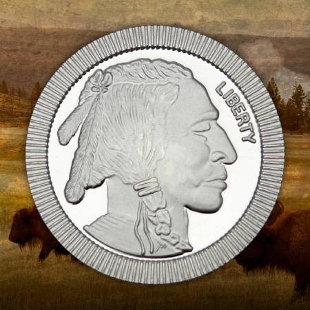 Buffalo Replica Stackables 1 Ounce Silver Rounds