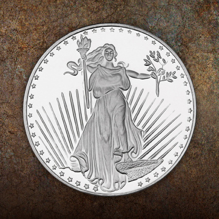 Saint Gaudens Replica 1 Ounce Silver Rounds