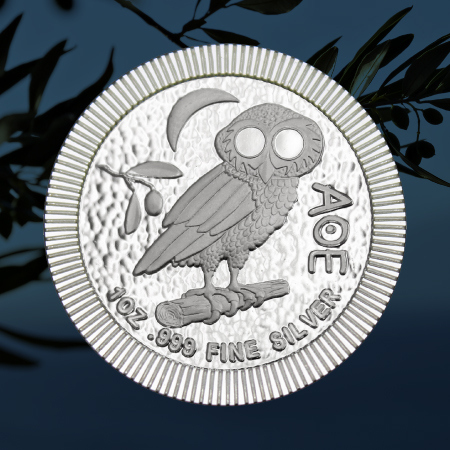 Niue Owl of Athena Stackables 1 Ounce Silver Coins