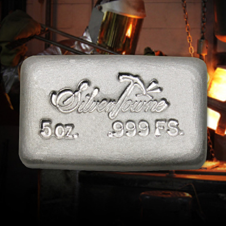 5 Ounce SilverTowne Hand Poured Silver Bars