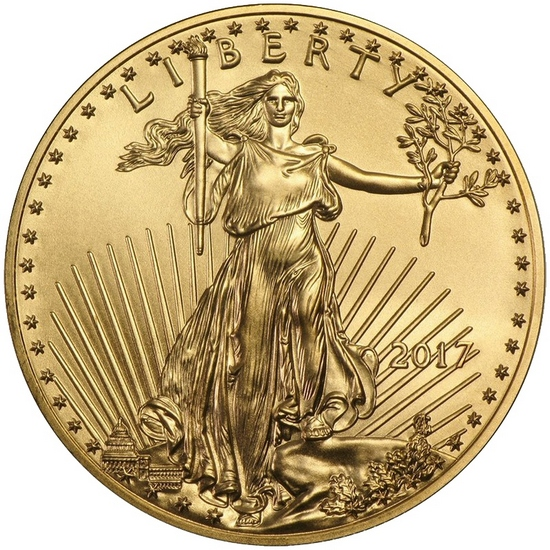2017 Gold American Eagle 1oz BU