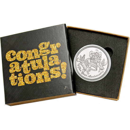 Anniversary Bells 1oz .999 Silver Medallion Dated 2018