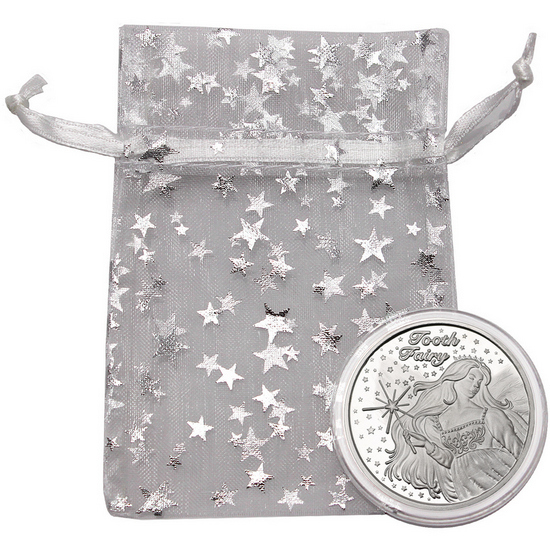 Tooth Fairy 1oz .999 Silver Medallion Dated 2018