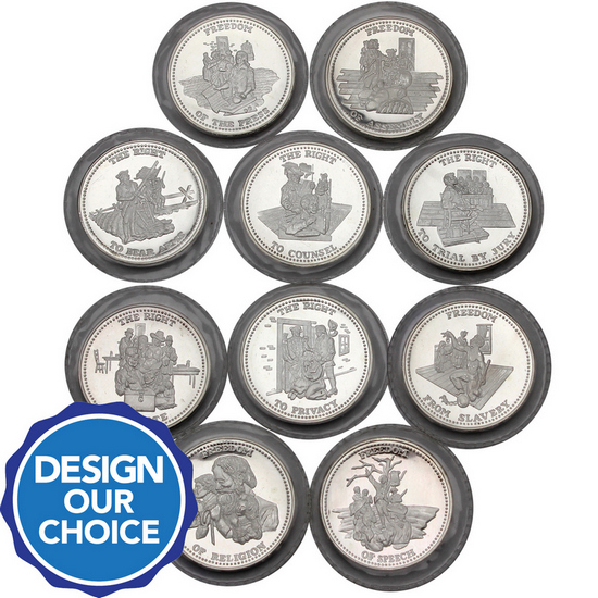Johnson Matthey Freedom Series 1oz .999 Silver Medallion Design Our Choice Single