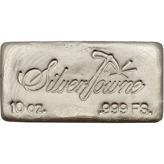 SilverTowne Poured 10oz .999 Silver Bar