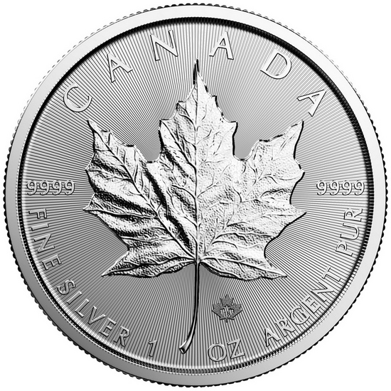 2018 Canada Silver Maple Leaf 1oz BU Coin