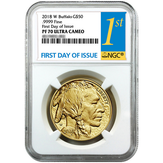 2018 W Gold Buffalo 1oz PF70 UC FDI NGC 1st Label