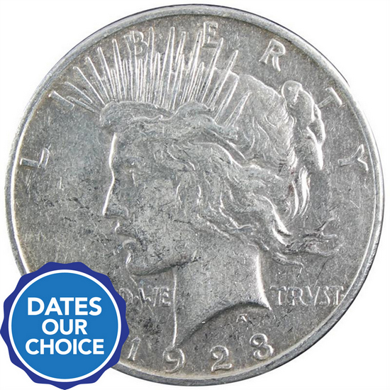 Silver Peace Dollar Date Our Choice VG-XF
