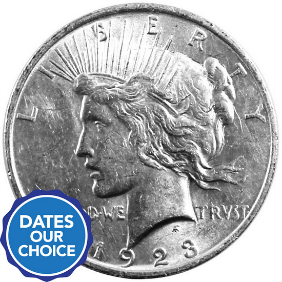 Silver Peace Dollar Date Our Choice AU-BU