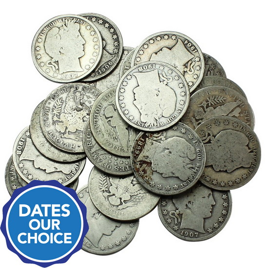 20pc Silver Barber Half Dollar Grab Bag Dates Our Choice