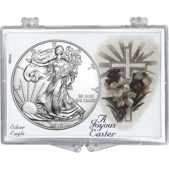 2018 Silver American Eagle Easter Cross Snaplock