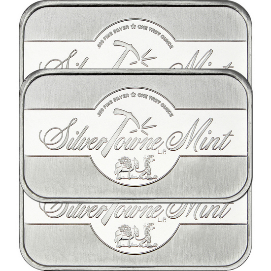 SilverTowne Mint 1oz .999 Silver Bar 3pc