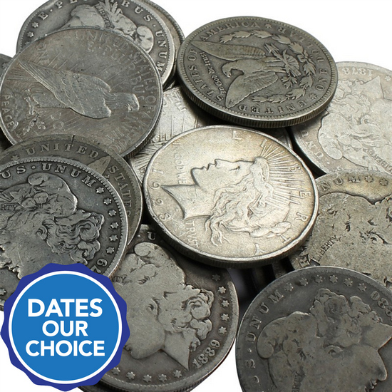 Cull Silver Dollars 20pc Dates Our Choice