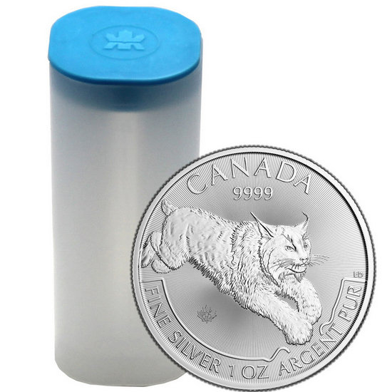 2017 Canada Silver Lynx 1oz Predator Series BU 25pc in Tube