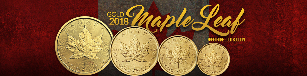2018 Canadian Gold Maples .9999 Pure Gold Bullion Coins