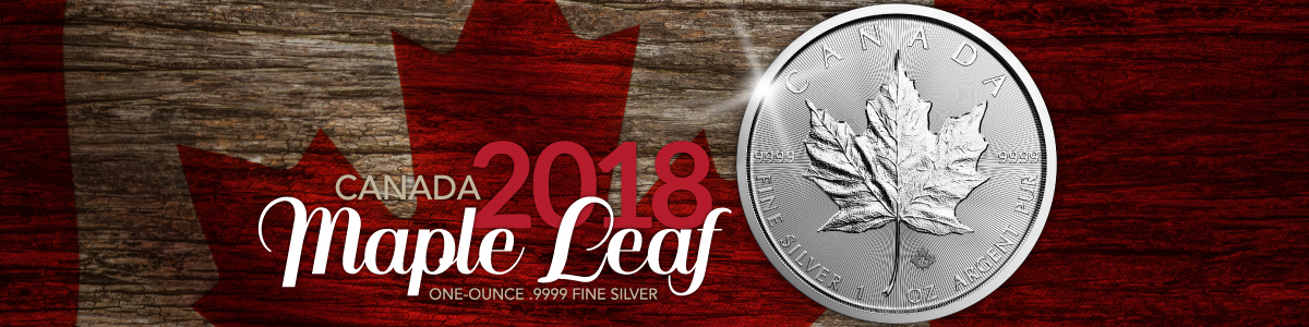 Canadian Silver Maple Leafs Bullion Coins