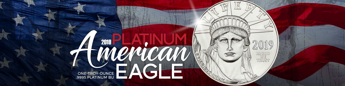 2019 1 Ounce Platinum American Eagle Coins Just Listed