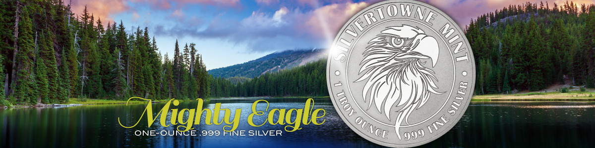 SilverTowne Mint Mighty Eagle 1oz 999 Silver Rounds