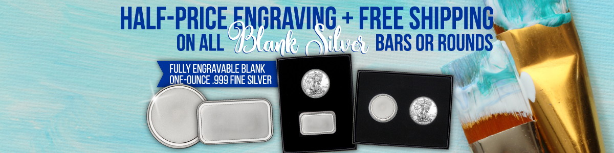 New! Blank Bar and Round Gift Sets; Half Off Engraving Plus Free Ship