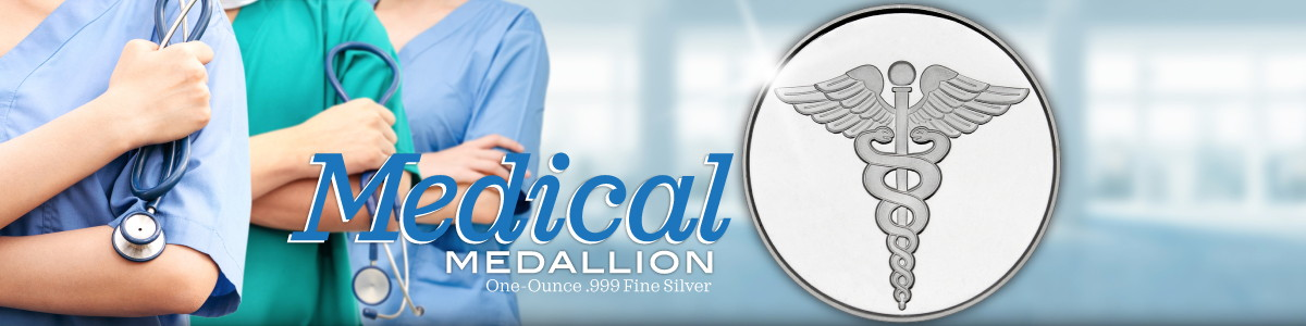 Medical Themed .999 Fine Silver Bullion