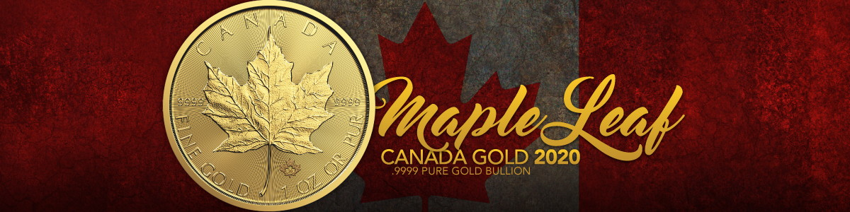 2020 Canadian Gold Maples .9999 Pure Gold Bullion Coins
