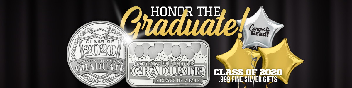 New Release!! 2020 SilverTowne Graduation Bars and Rounds Now Available!
