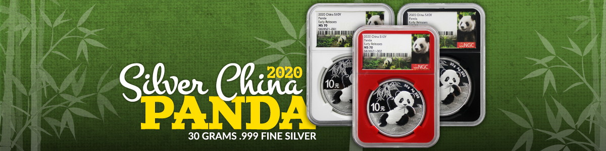 Certified 2020 China Silver Panda Coins by NGC and PCGS